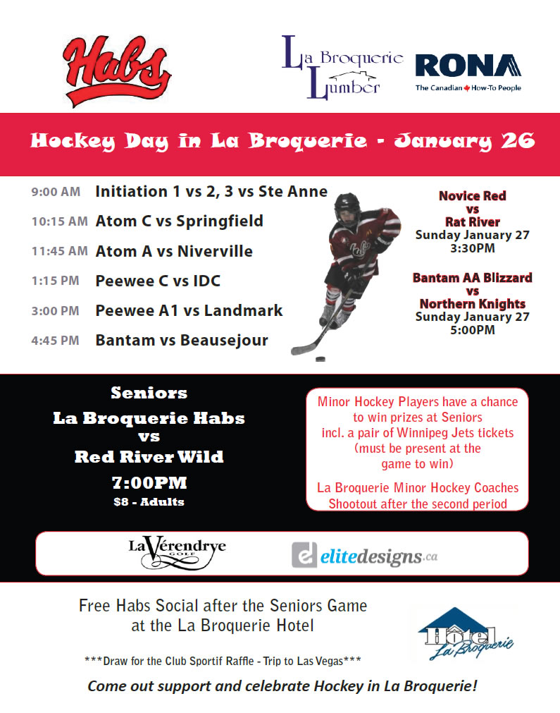 Hockey Day in La Broquerie